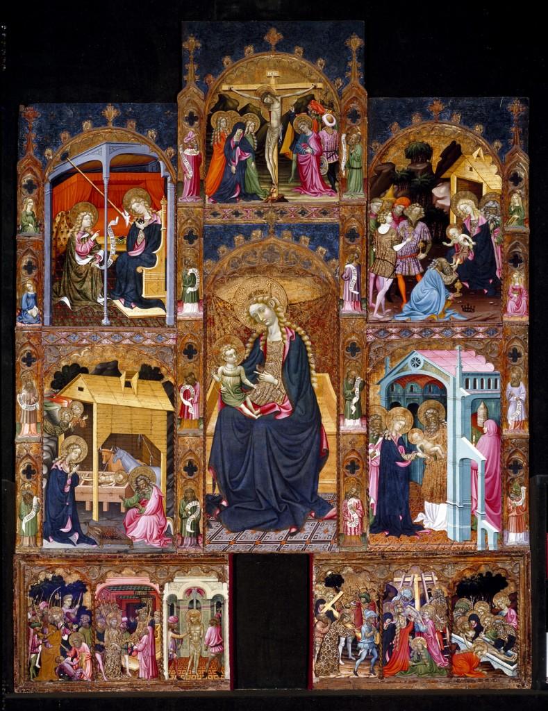 Frontal con escenas de la infancia de Cristo_Sala Várez Fisa_Archivo Museo del Prado