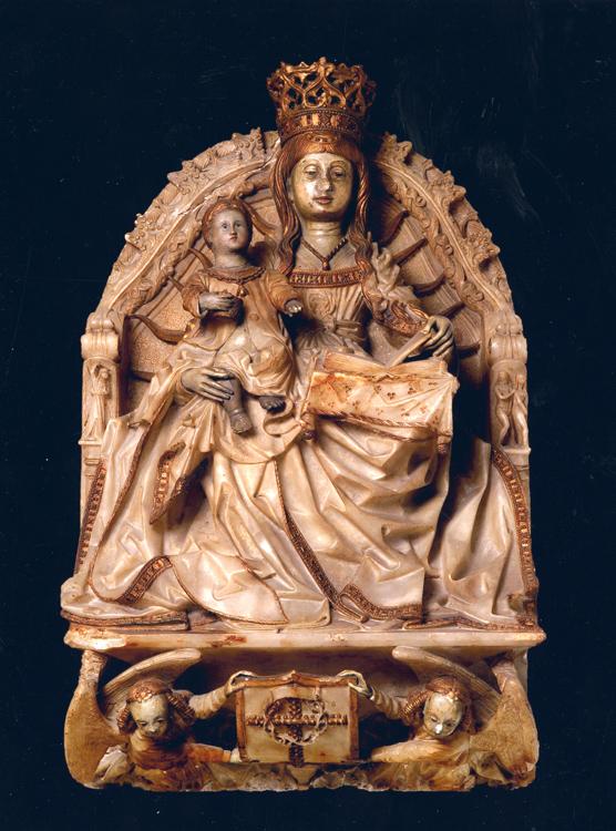 """Virgen entronizada con el Niño, Gil de Siloé_Sala """"Várez Fisa""""_Archivo Museo del Prado"""