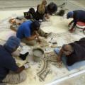 Hallan en Israel un mosaico de 1.500 años de antigüedad con imágenes de Egipto