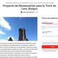 Recogen firmas de apoyo para lograr la restauración de la Torre de Lara