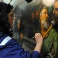 El INAH restaura las obras pictóricas del retablo mayor  de Xochimilco