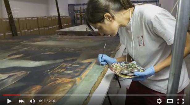 VÍDEO: Restauración de piezas del Museo de Bellas Artes de Malaga
