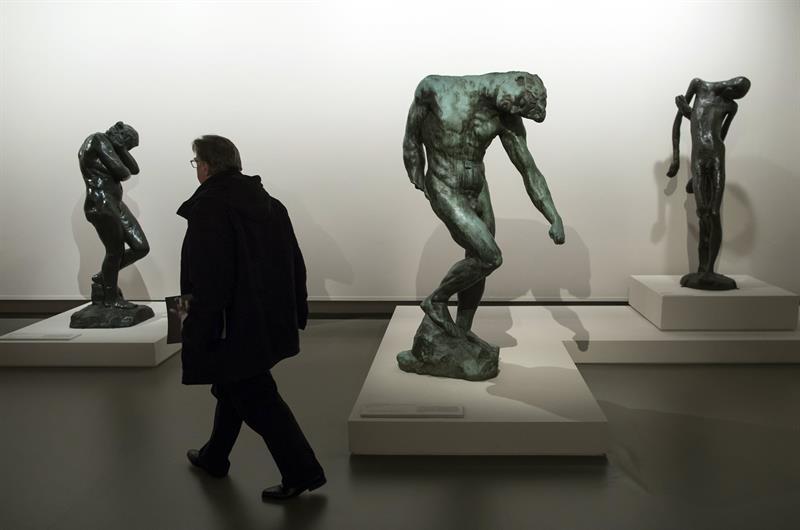 Exposición centenario muerte de Rodin en Grand Palais de París.