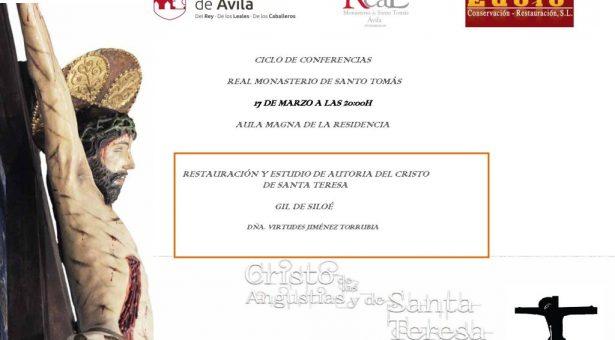 """Conferencia """"Restauración y estudio de autoría del Cristo de Santa Teresa"""", en el Real Monasterio de Santo Tomás, Ávila"""