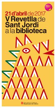 Cartel de la 'Revetlla' de Sant Jordi en las bibliotecas catalanas.