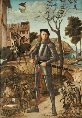 Vittore Carpaccio, 'Joven caballero en un paisaje', 1510.