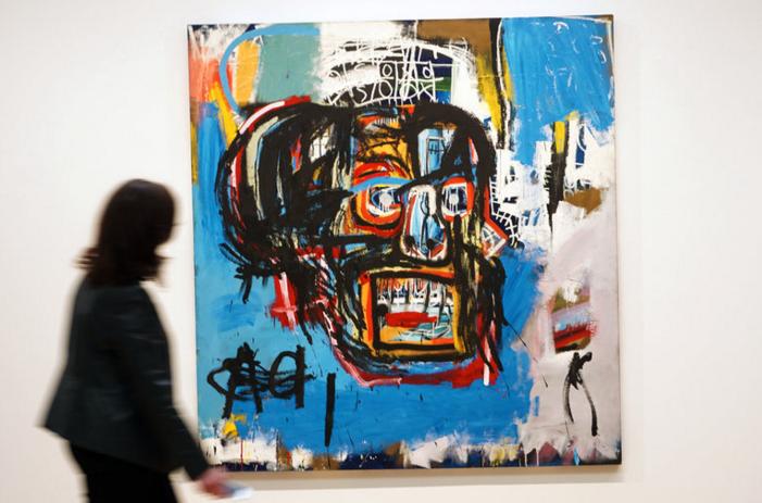 'Untitled', de Basquiat, subastado anoche por 110,5 millones de dólares. Sotheby´s.