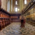 Terminados los trabajos de restauración y conservación del conjunto del coro de la Catedral Nueva de Plasencia