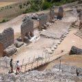 Descubren en Clunia un monumento funerario romano en la excavación de la superficie donde se levantará el centro de recepción de visitantes
