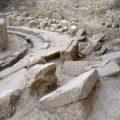 Las ruinas del teatro de Thuría, en el Peloponeso, casi desenterradas