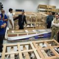 Un carro funerario de Tutankamón es trasladado al nuevo museo de El Cairo