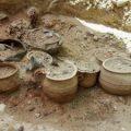 Descubren una sepultura vacceo-romana con piezas de guerra en Pintia (Valladolid)