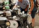Las históricas motocicletas Derbi, reunidas en una exposición en Platja d'Aro