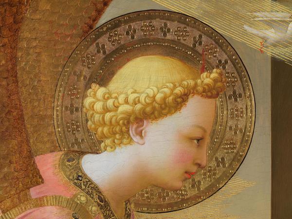 Canal Patrimonio. _Detalle del arcángel Gabriel de Fra Angelico_ Museo del Prado