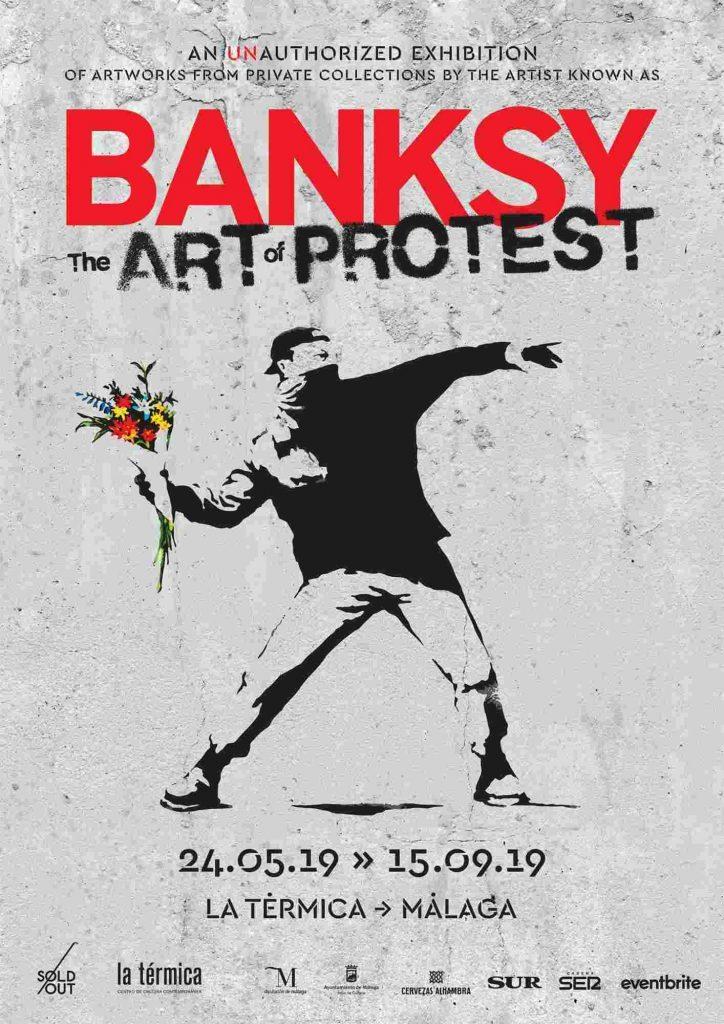 Cartel de la exposición de Banksy