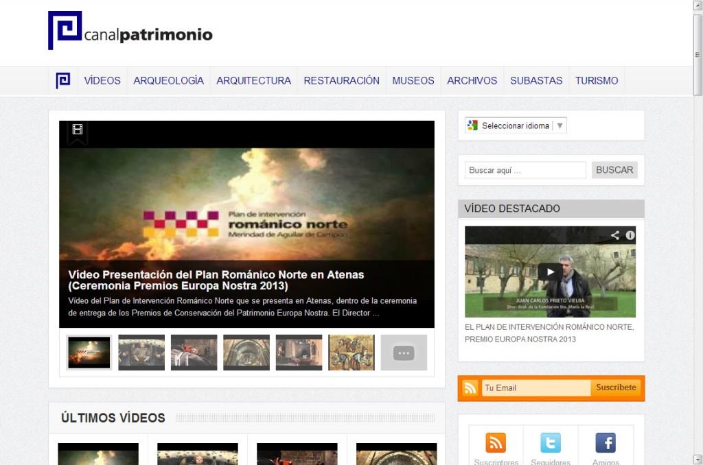 Canal Patrimonio Nuevo Diseño Web