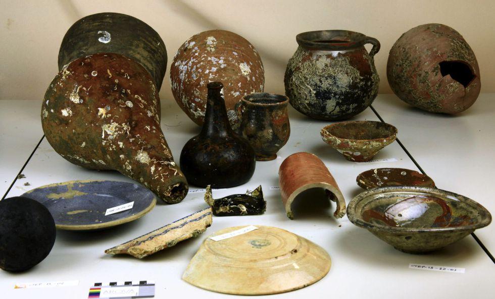 Restos Arqueológicos- Barco Romano Cartagena- ARQ- 06092013
