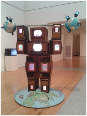 """Wrap Around The World Man"", Nam June Paik, 1990"
