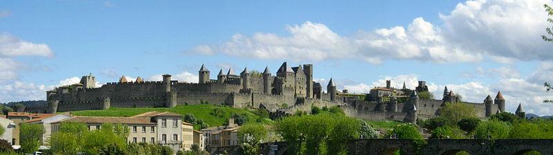Vista de la ciudad amurallada de Carcassonne