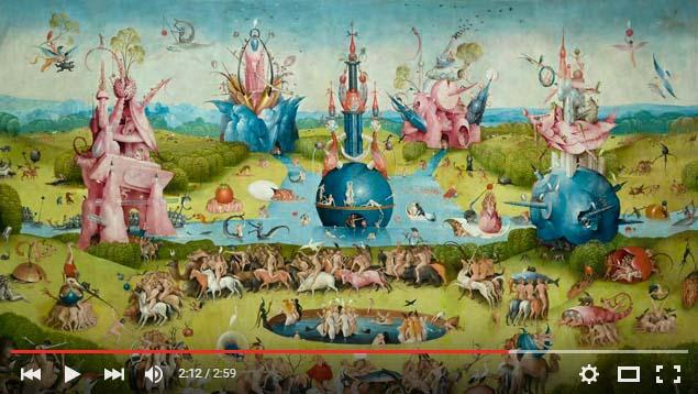 Fotograma del vídeo promocional de El Bosco, la gran exposición del centenario