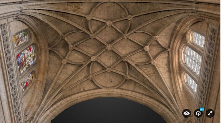 bóveda catedral de Santa María Segovia