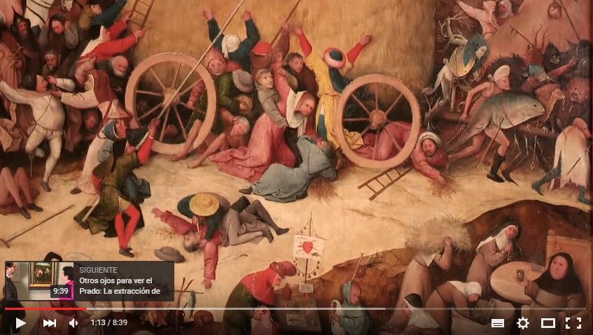 Fotograma de un vídeo sobre El carro de heno, El Bosco