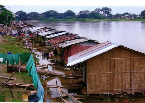 casas flotantes, Ecuador
