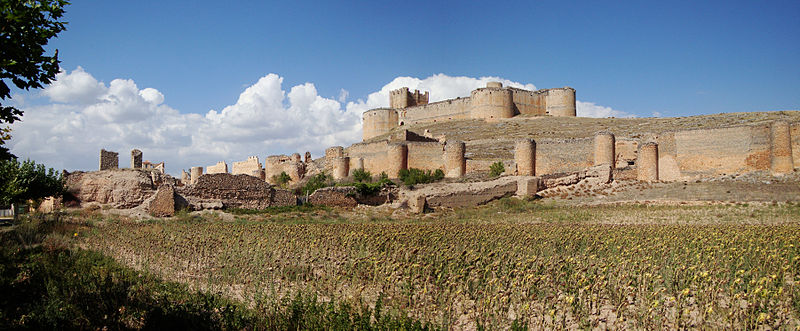 Vista del castillo de Berlanga de Duero, Soria
