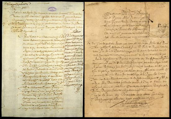 carta autógrafa, Cervantes