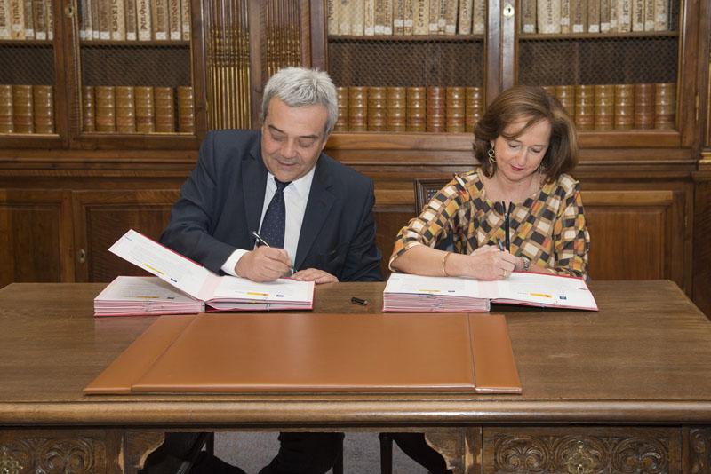 firma convenio Ministerio de Industria y BNE