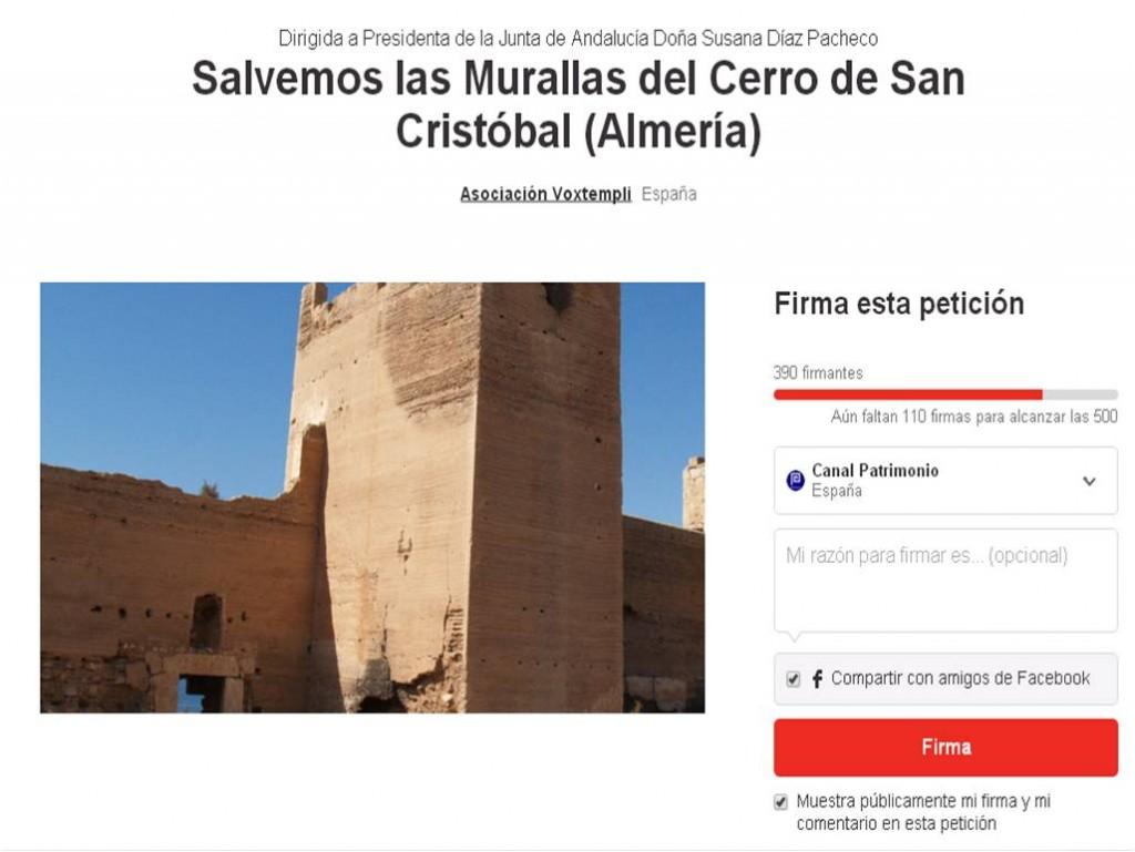https://www.change.org/p/se%C3%B1ora-presidenta-de-la-junta-de-andaluc%C3%ADa-salvemos-las-murallas-del-cerro-de-san-crist%C3%B3bal-almer%C3%ADa