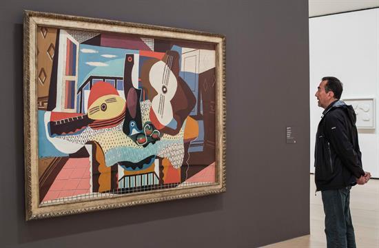 "Pintura ""Mandoline et guitarre"" de Pablo Picasso"