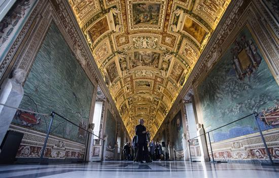 Galería de los Mapas, en el Vaticano
