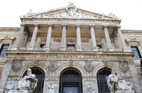 Fachada de la Biblioteca Nacional, en el centro de Madrid