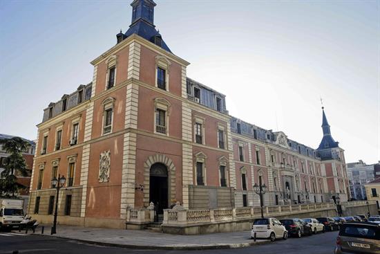 Fachada del Salón de Reinos que actualmente pertenece al Museo del Prado.