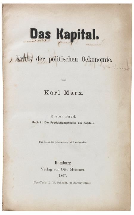 Capital, Marx