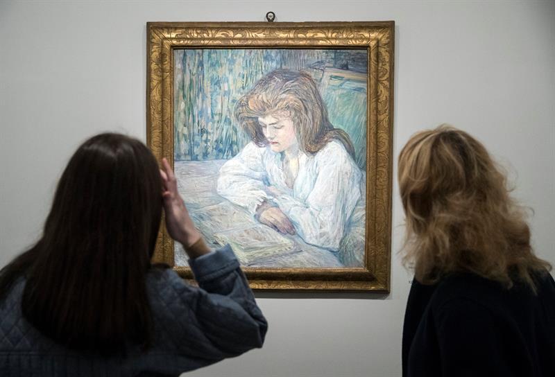 Vista del cuadro 'La lectora' de Toulouse Lautrec que forma parte de la colección Alicia Koplowitz