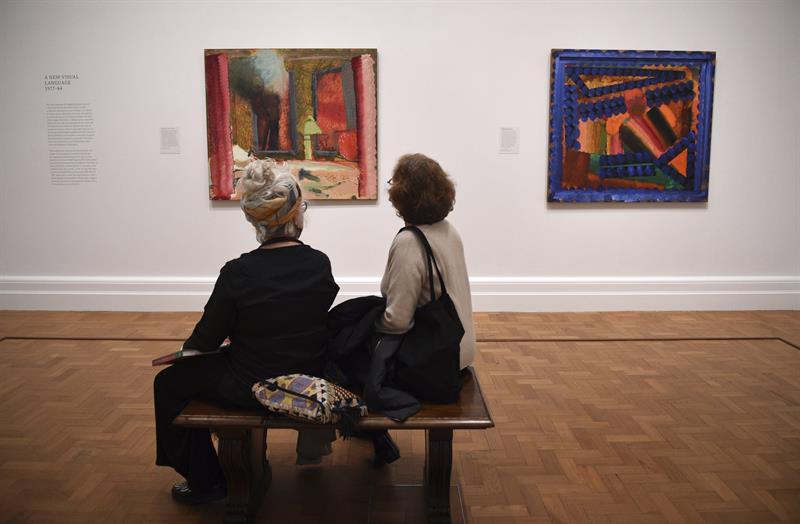 """Exposición """"Amigos ausentes"""", retratos de Hodking en el Museo National Portrait Gallery, en Londres"""
