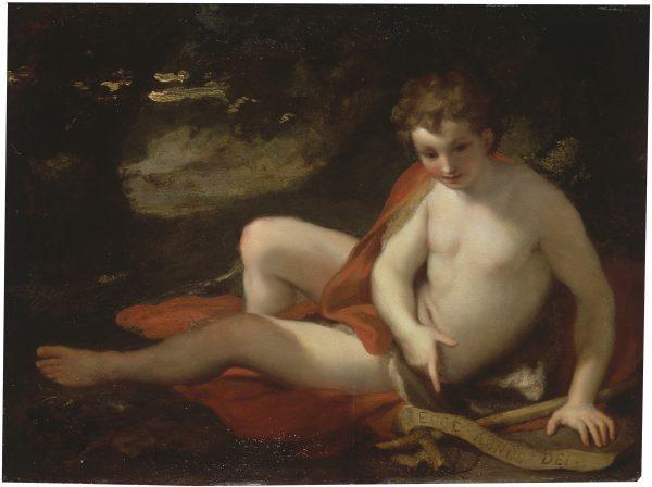 San Juan Bautista, Antonio Rafael Mengs (1728-1779) Óleo sobre tabla. Madrid, Museo Nacional del Prado. Donación de Óscar Alzaga