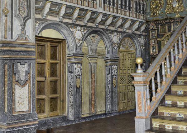 Restauración Monasterio Santa Isabel la Real, Albaicín, Granada. Detalle interior.