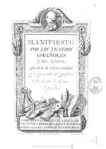 Manifiesto por los Teatros, Biblioteca Nacional.