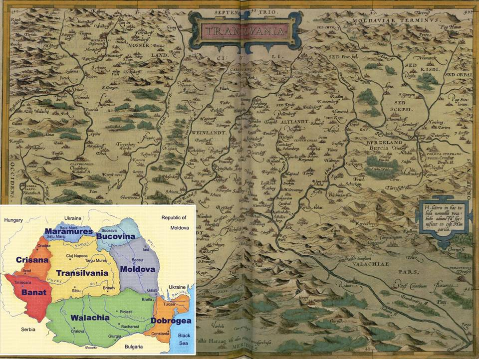 Transilvania. Ortelius, A.: Theatrum Orbis Terrarum, 1570