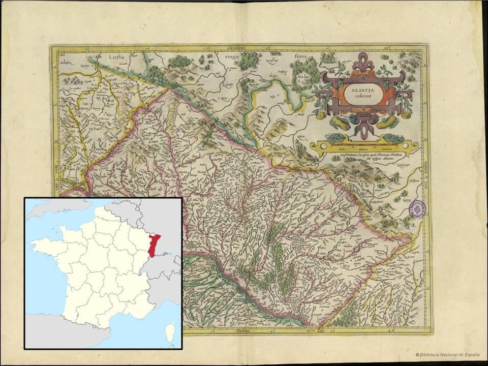 Alsacia. Mercator, G.: Gerardi Mercatoris Atlas ou representation du Monde Vniversel et des parties d'ice lui, 1633