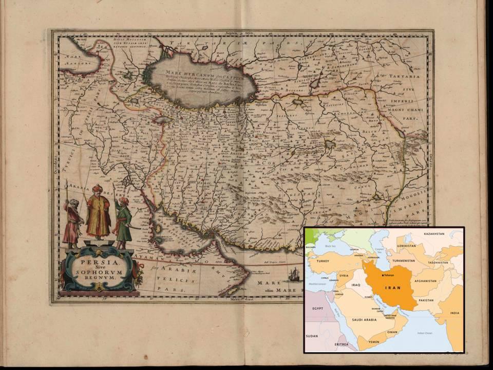 Persia-Irán. Janssonius, J.: Atlas Novus, sive Theatrum Orbis Terrarum, 1646