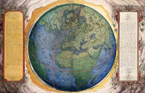 Mundo. Sgrooten, Ch.: Orbis terrestris descriptio, s. XVI