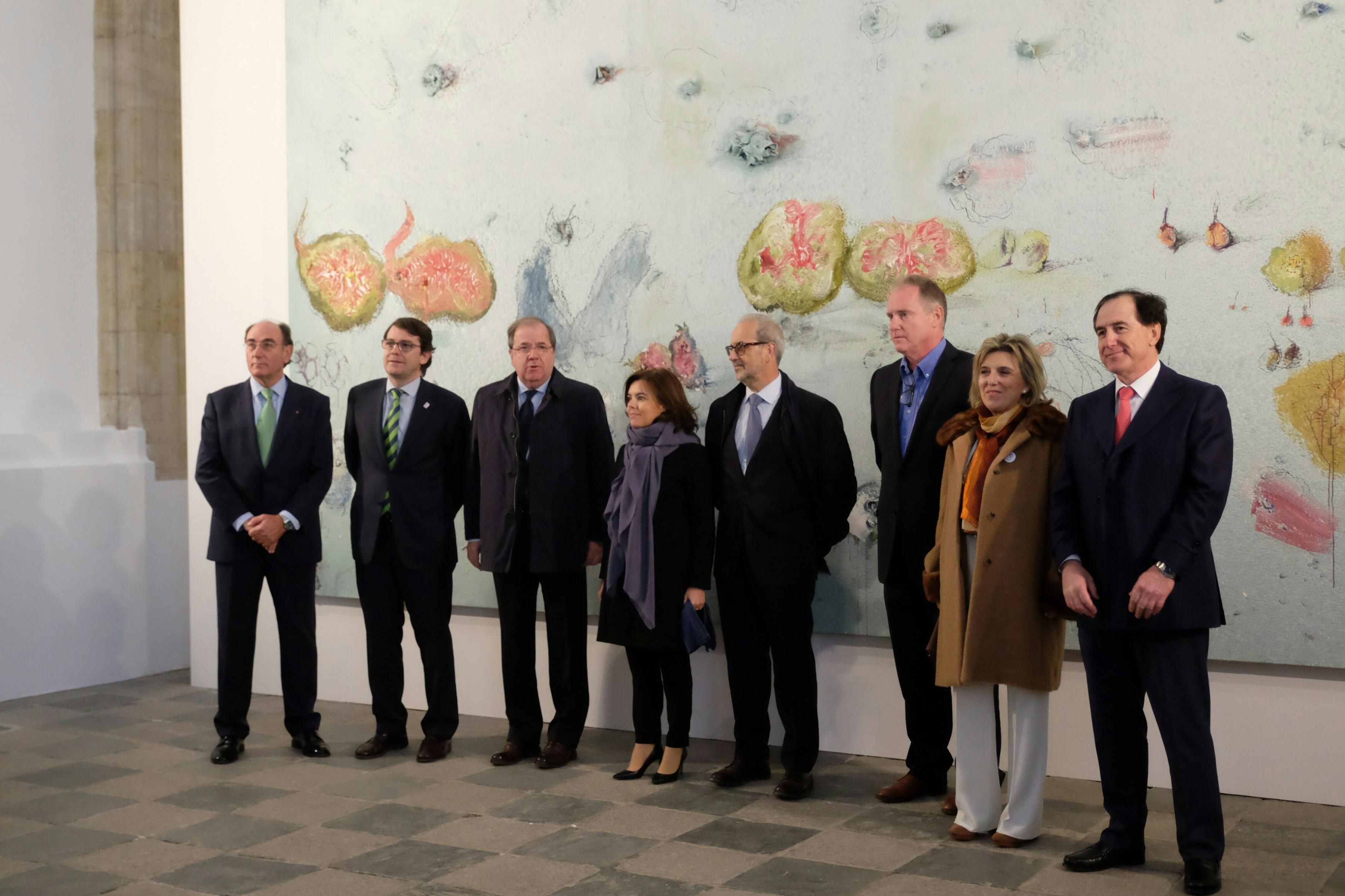 Inauguración de la exposición 'El Arca de Noé', de Miquel Barceló en Salamanca.