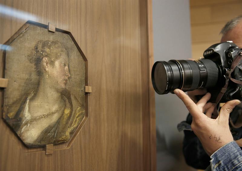 Presentación de 'Dama de perfil en el Museo de Bellas Artes de Valencia.