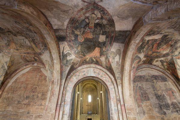 Pintures de la galilea de la Col·legiata de Sant Vicenç de Cardona.