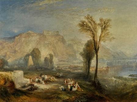 """""""Ehrenbreitstein"""" es una pieza crucial de la última etapa de Turner."""