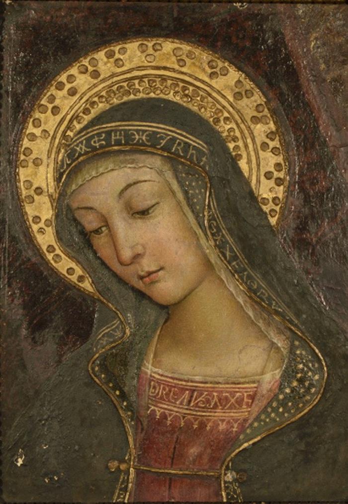 Retrato de la Virgen que Pinturicchio pintó en el siglo XV para el papa Alejandro VI Borgia en el Vaticano.